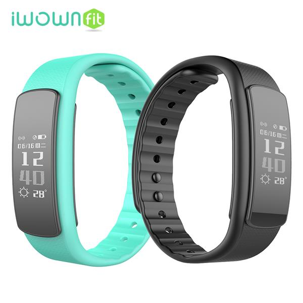 (Import) iWOWNFit i6 HR Smart Band Sport Heart Rate Record Management