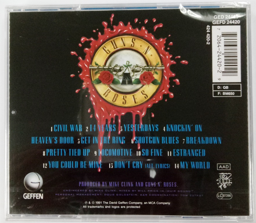 IMPORTED CD Guns N' Roses Use Your Illusion II