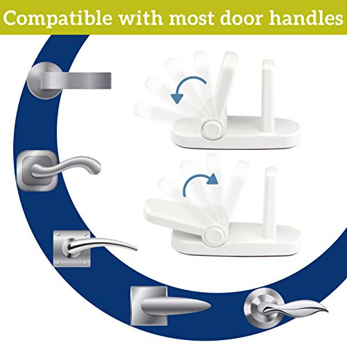 Improved Childproof Door Lever Lock 2-Pack Prevents Toddlers From Opening Door