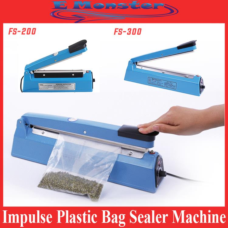 Impulse Plastic Sealer Film Heat Press Poly Bag Seal Machine