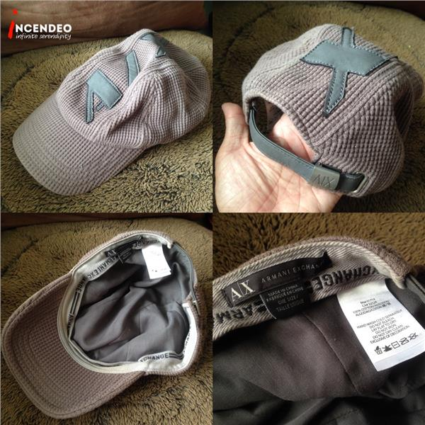 **incendeo** - Authentic Armani Exchange Grey Cap