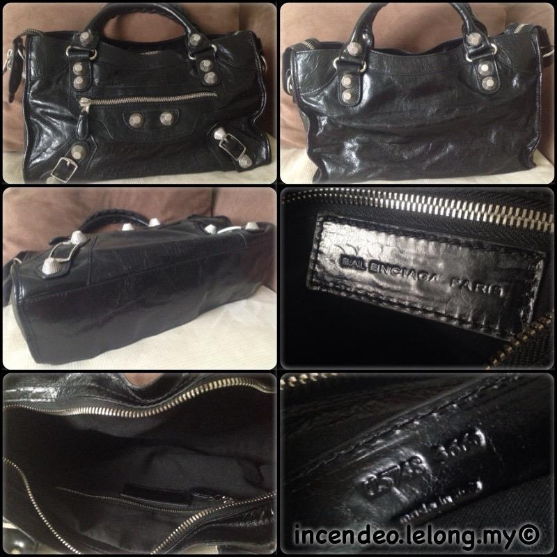 **incendeo** - Authentic B4LENCIAGA Giant City Black Leather Bag