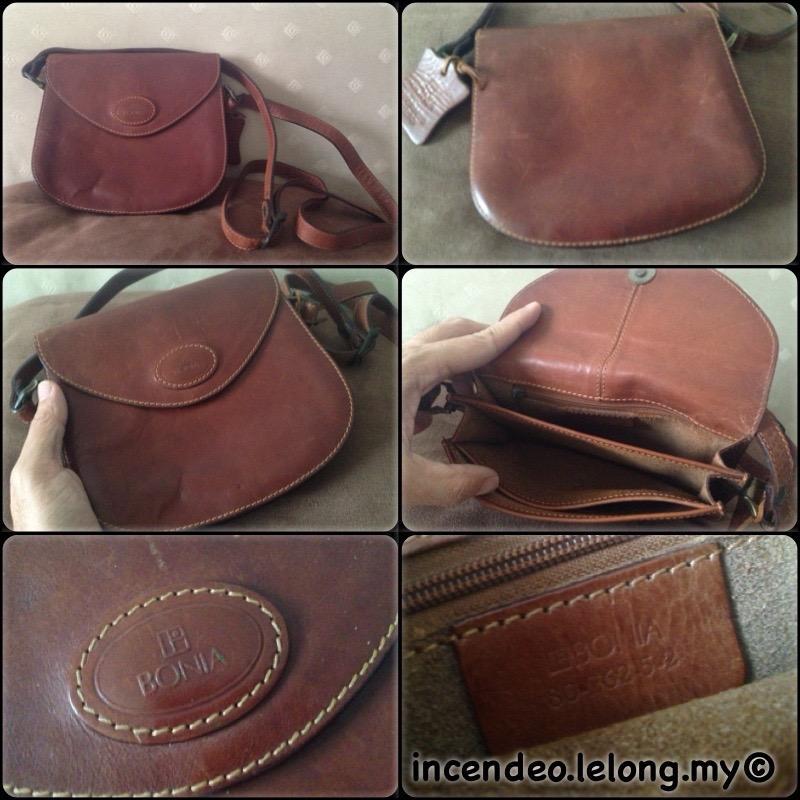 Incendeo Authentic Bonia Genuine Leather Handbag For Las