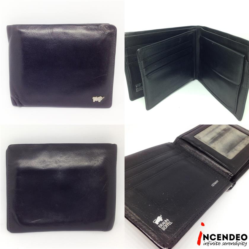 **incendeo** - Authentic BRAUN BUFFEL Genuine Leather Wallet
