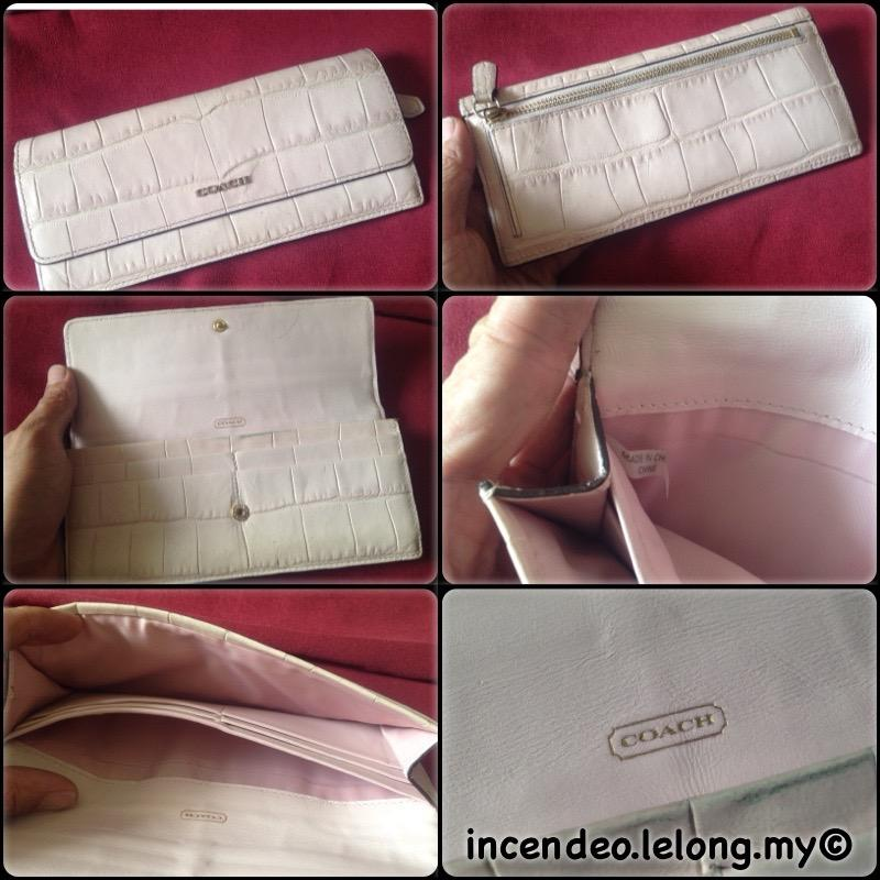 **incendeo** - Authentic C O A C H Pink Long Wallet for Ladies