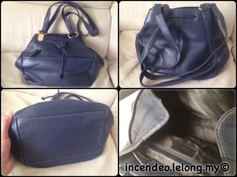 Incendeo Authentic Guy Laroche Genuine Leather Handbag