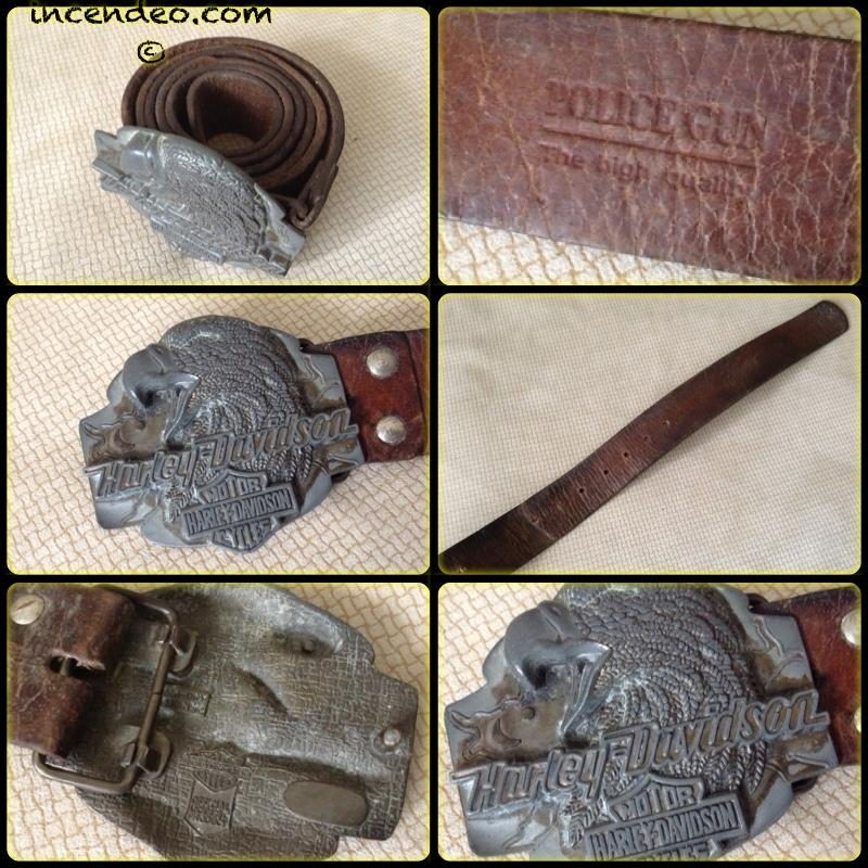 **Incendeo** - Authentic Harley Davidson Eagle Head Buckle Belt
