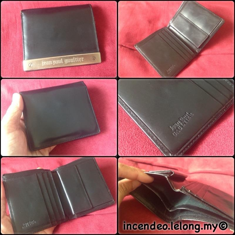 **incendeo** - Authentic JP  G A U L T I E R Black Leather Wallet