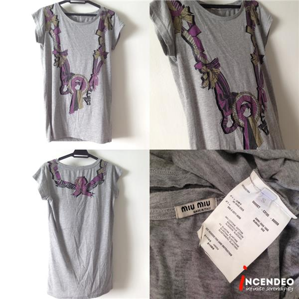 **incendeo** - Authentic M I U  M I U Grey Top for Ladies