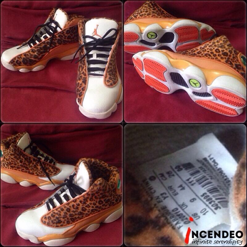 new product dbd99 cddd3 **incendeo** - Authentic NIKE Air Jordan 13/(XIII) Leopard Khaki Shoes