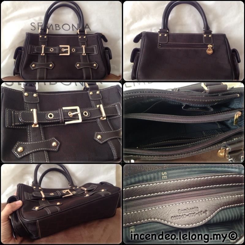 Incendeo Authentic Sembonia Top Handle Handbag For Las