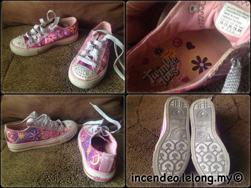 **incendeo** - Authentic SKECHERS Light Up Twinkle Toes Pink Shoes