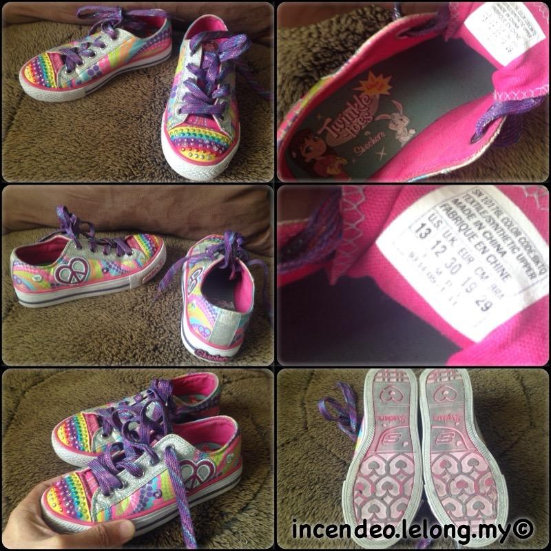 **incendeo** - Authentic SKECHERS Light Up Twinkle Toes Rainbow Shoes