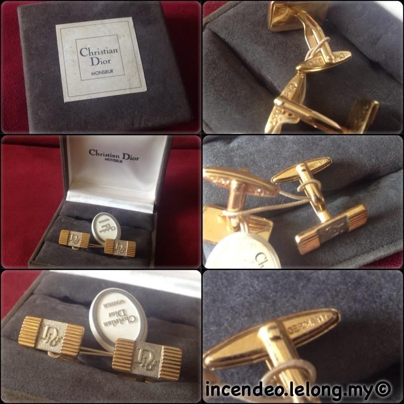 **incendeo** - Authentic Vintage CHR1ST1AN D1OR Monsieur Cufflinks