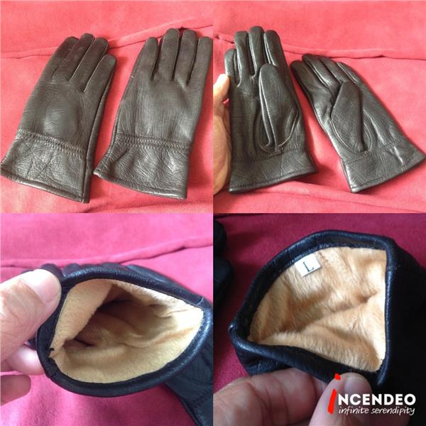 **incendeo** - Black Leather Gloves for Ladies