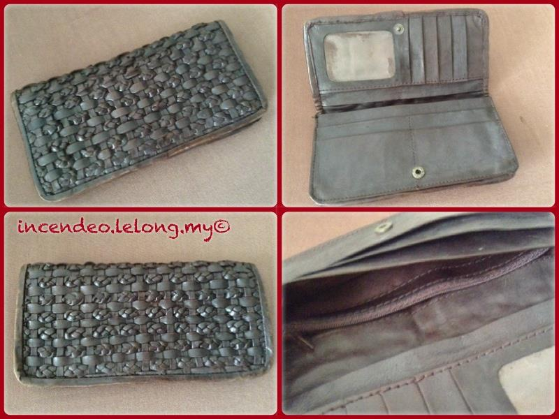 **incendeo** - Brown Leather Long Purse for Ladies