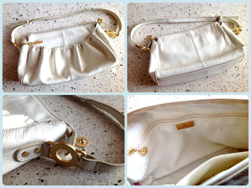 **Incendeo** - Che Che New York White Leather Handbag