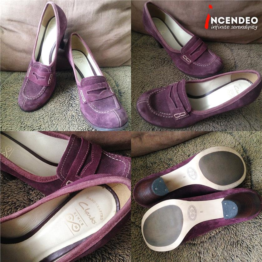 **incendeo** - CLARKS Handcrafted Leather Heels for Ladies