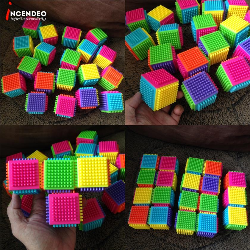 **incendeo** - Colorful Cubes Building Blocks Set