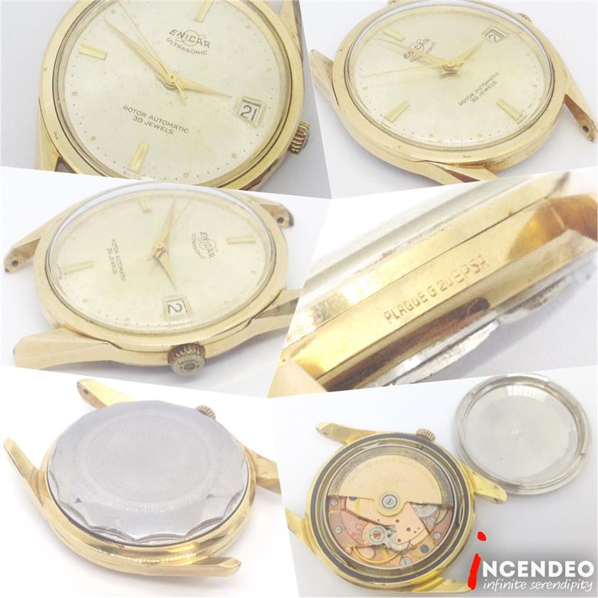 **incendeo** - ENICAR Swiss Ultrasonic Rotor Gold Plated Auto Watch