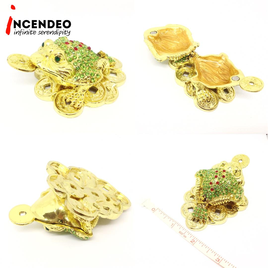 **incendeo** - Feng Shui Bejeweled Wealth Luck 3-Legged Money Frog