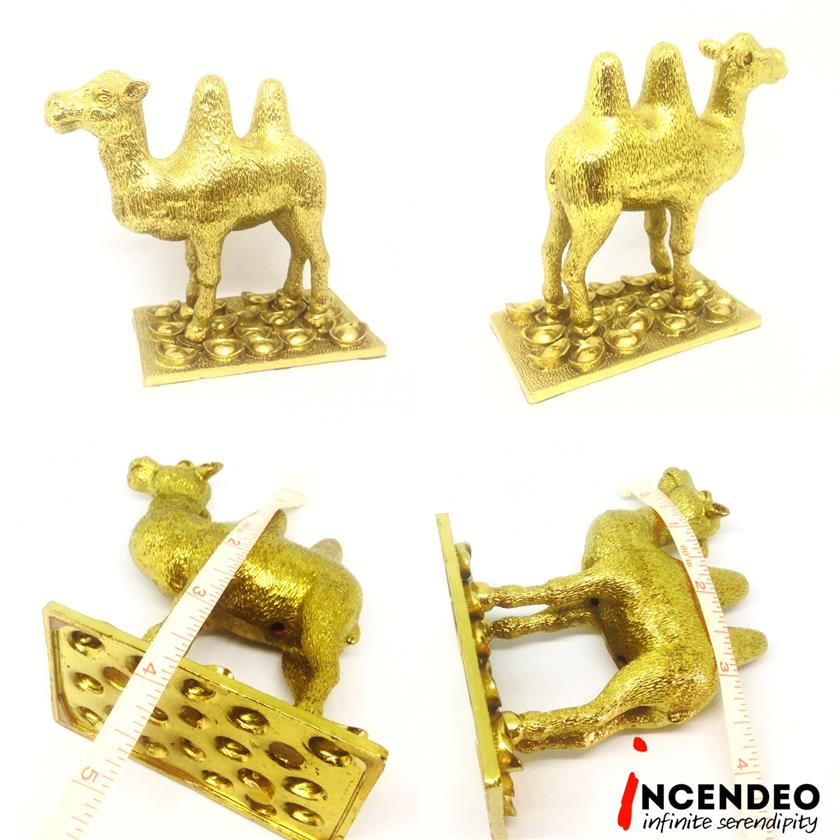 **incendeo** - Feng Shui Cash Flow Gold Plated Double Humps Camel