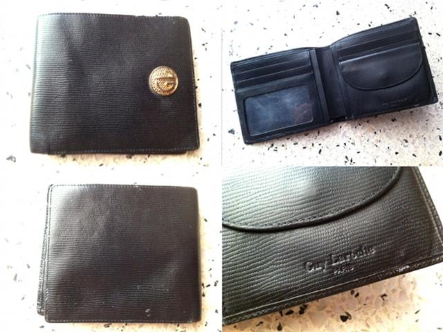 **Incendeo** - Guy Laroche Paris Black Leather Wallet for Men