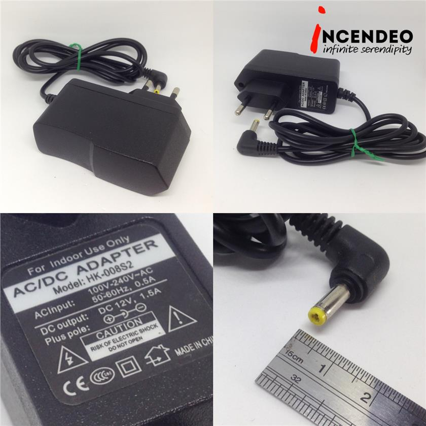 **incendeo** - HK-008S2 DC 12V 1.5A Power Adapter