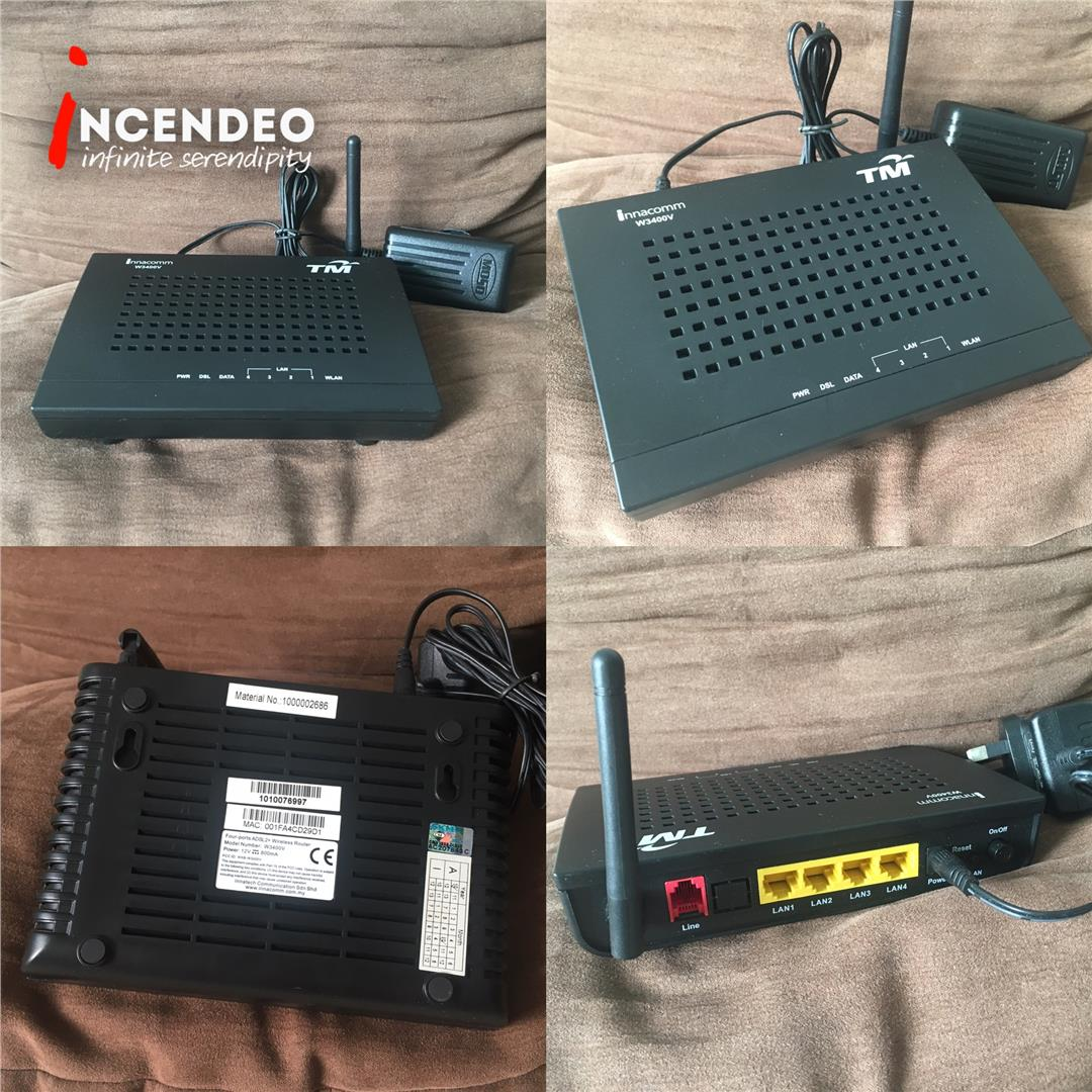 **incendeo** - innacomm ADSL2+ Wireless Router W3400V