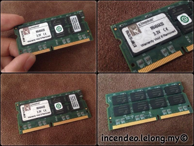 **incendeo** - KINGSTON 512MB PC133 CL3 SDRAM SODIMM M6464A30 #1
