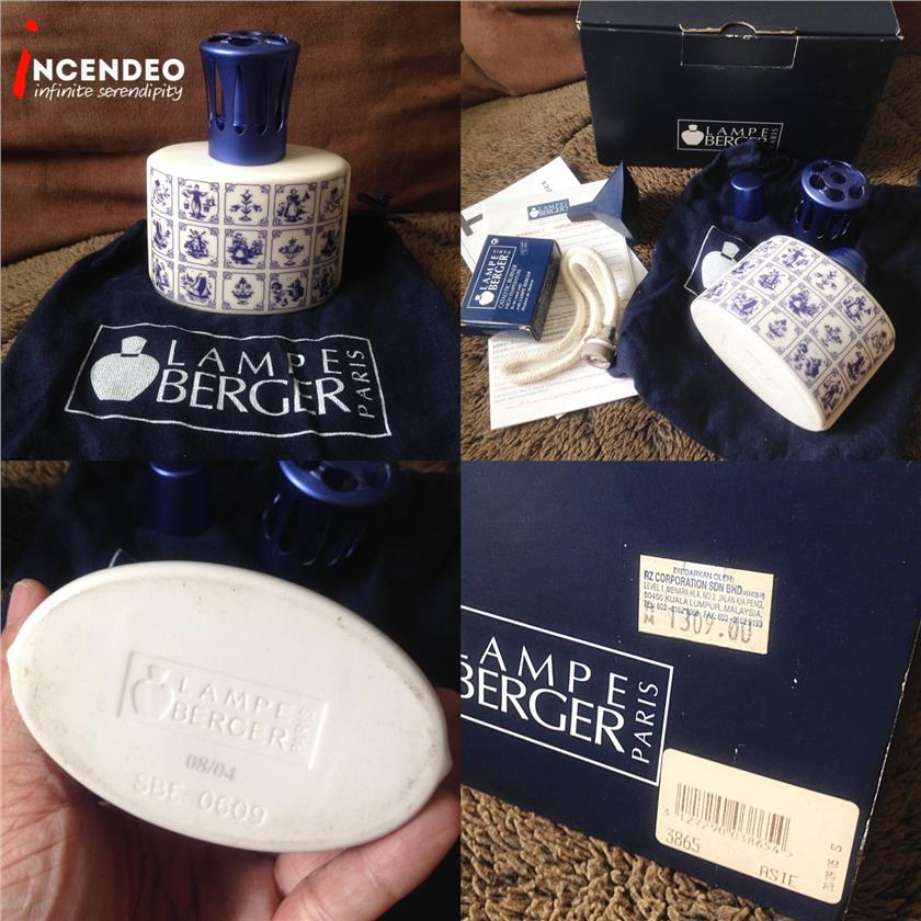 **incendeo** - LAMPE BERGER Delft Blue Mosaic Tiles Diffuser 3865