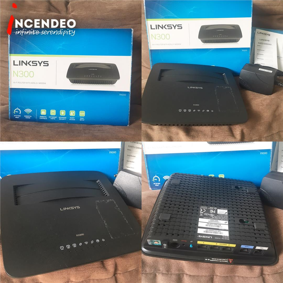 **incendeo** - LINKSYS X1000/N300 Wireless ADSL2+ Modem Router