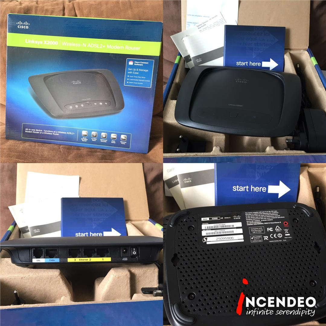 **incendeo** - LINKSYS X2000 Wireless-N ADSL2+ Modem Router