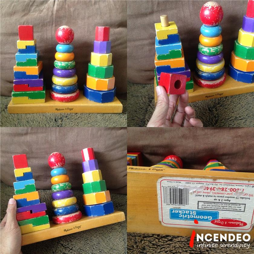 **incendeo** - Melissa & Doug Wooden Geometric Stackers