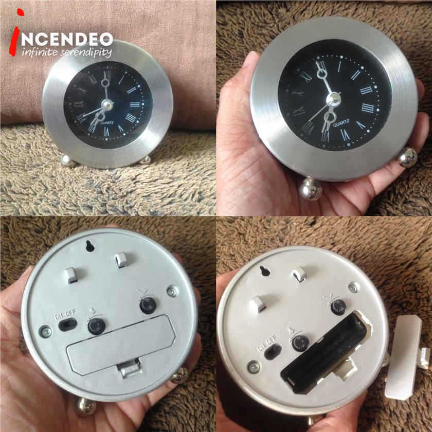 **incendeo** - Metal Round Alarm Clock