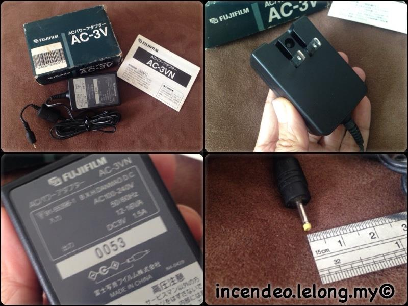 **incendeo** - Original FUJIFILM 3V 1.5A Power Adapter AC-3VN