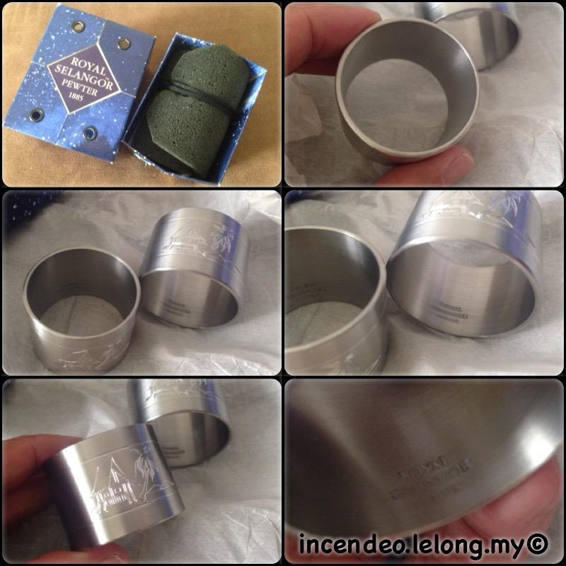 **incendeo** - ROYAL SELANGOR PEWTER Hut Napkin Rings 4610P