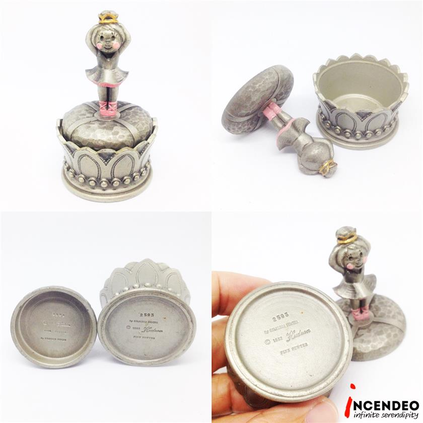 **incendeo** - Selangor Pewter Hudson Ballerina Jewelry Box 2593(1982)