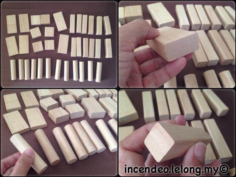 **incendeo** - Smooth and Safe Wooden Building Blocks Set for Kids