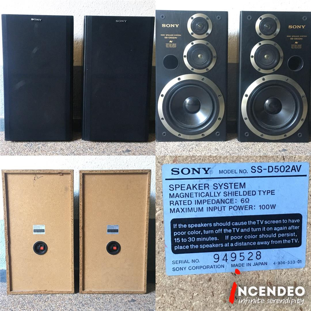 incendeo** - sony japan 3-way av (end 10/16/2018 12:06 pm)