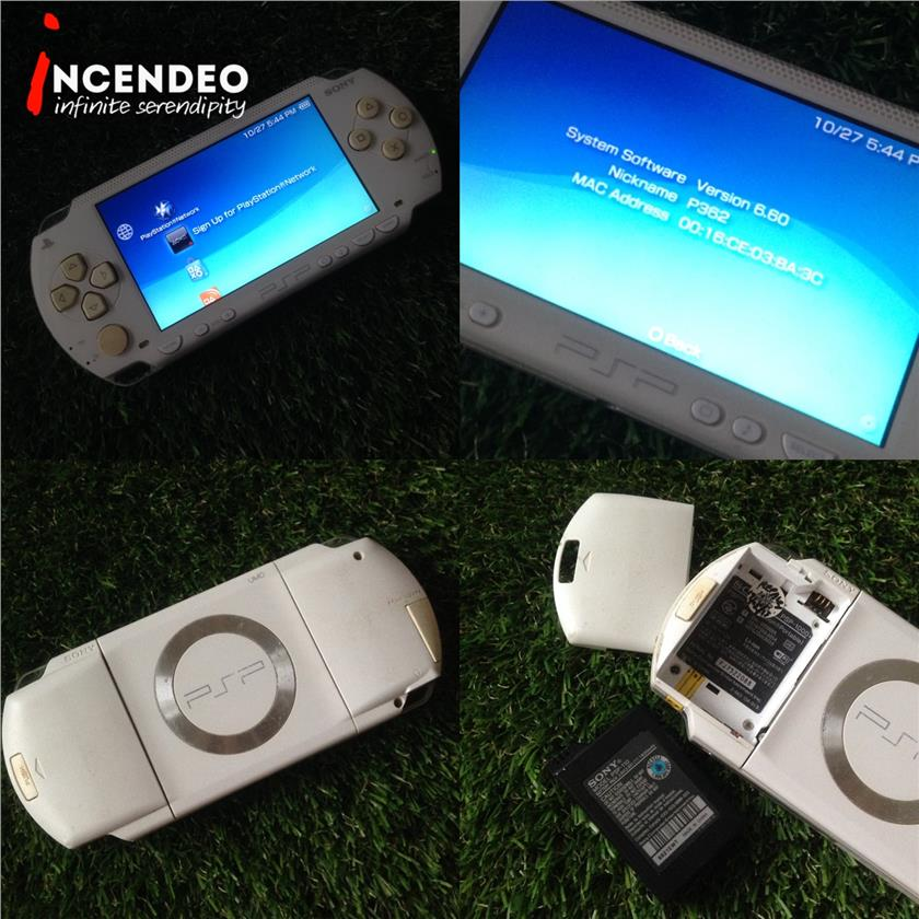 **incendeo** - SONY Playstation PSP White Game Console PSP-1000
