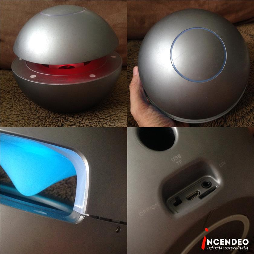 **incendeo** - Space Ball Bluetooth Speaker with FM and Light