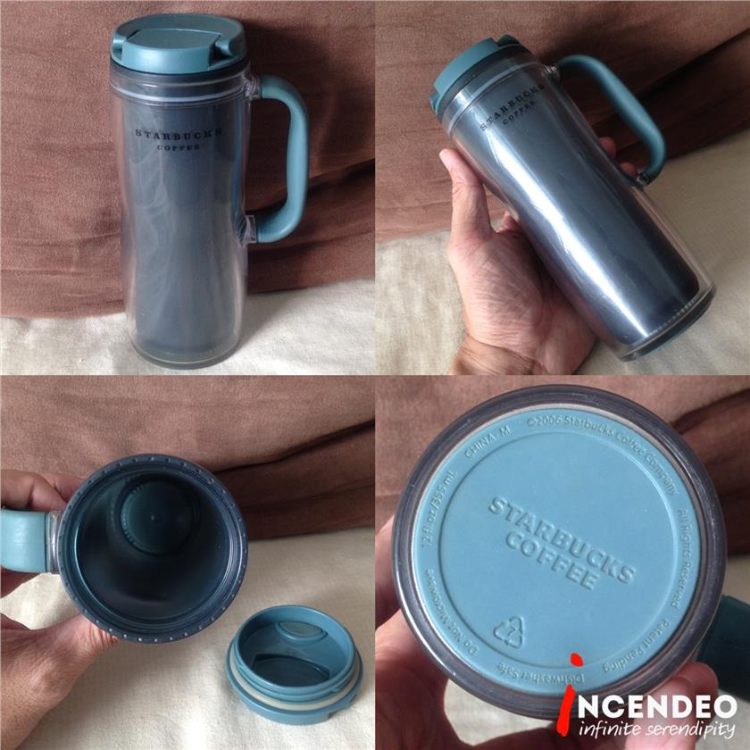 **incendeo** - STARBUCKS Coffee 12oz Travel Tumbler Rubber Grip Handle