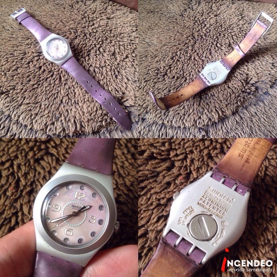 **incendeo** - SWATCH Irony Aluminium Purple for Ladies