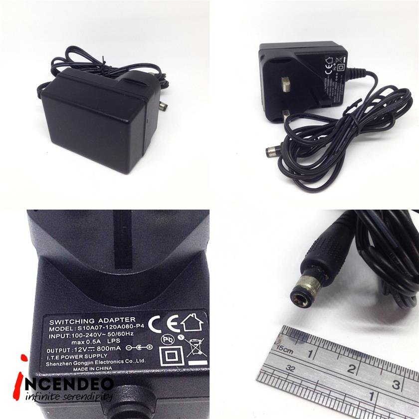 **incendeo** - Switching DC 12V 800mA Power Adapter