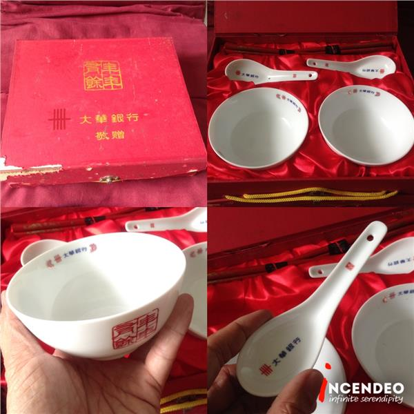 **incendeo** - United Overseas Bank Collectible Bowl and Spoon GiftBox
