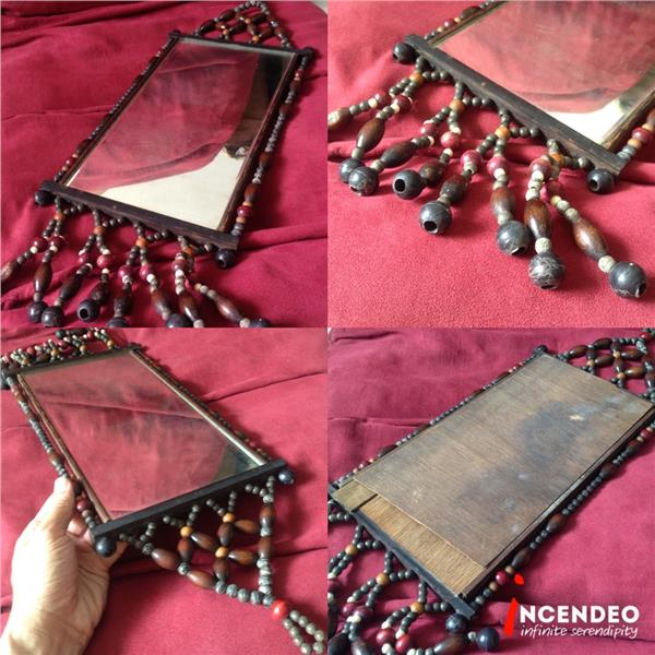 **incendeo** - Vintage Handcrafted Wooden Mirror
