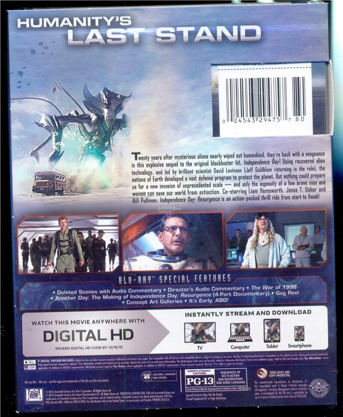 Independence Day Resurgence - New Blu-Ray