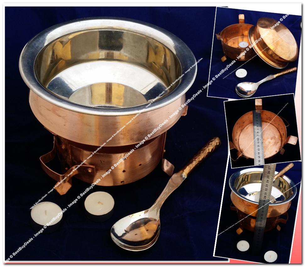 Indian Utensils Copper Steel Tableware Dinnerware Bowl Serving Spoon & Indian Utensils Copper Steel Tablewa (end 3/24/2016 2:15 PM)
