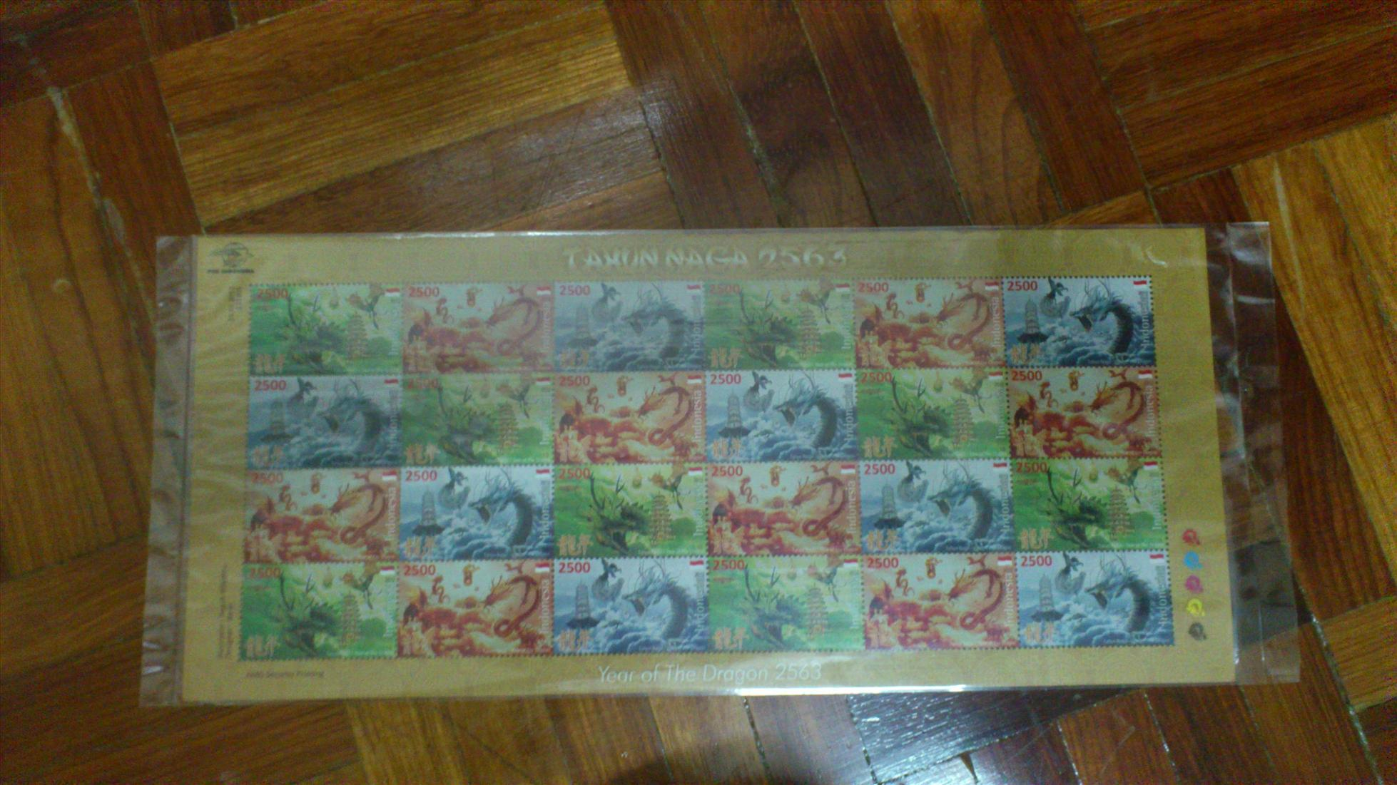 Indonesia Dragon Lunar New Year 2012 - Sheetlet MINT